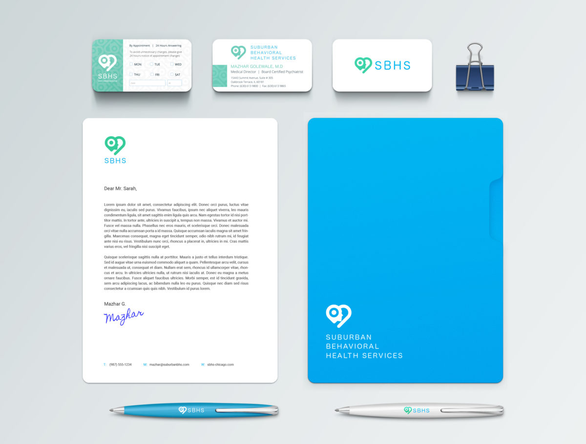 SBHS-brand mockup | corporate identity design services | REDSHIFT